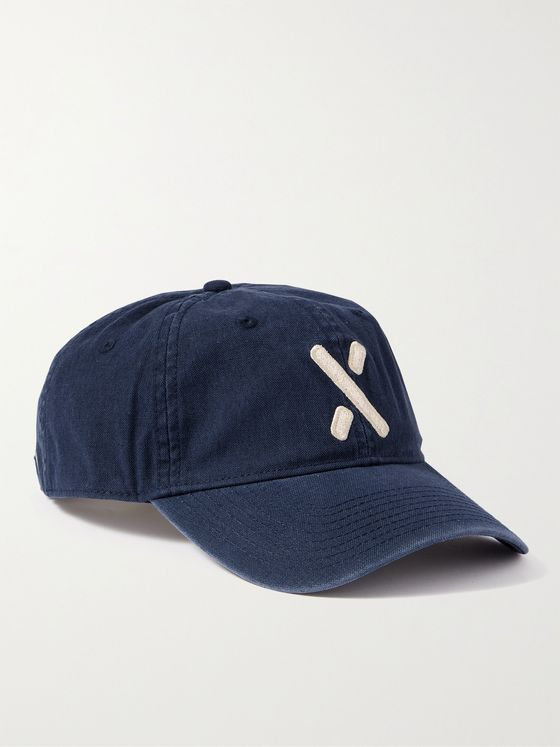 ALEX MILL Appliquéd Denim Baseball Cap