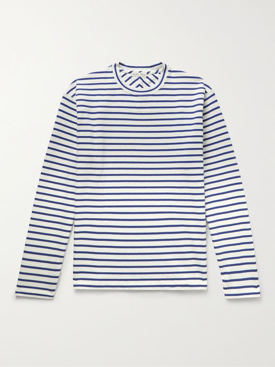 ALEX MILL Touch Down Striped BCI Cotton-Jersey T-Shirt