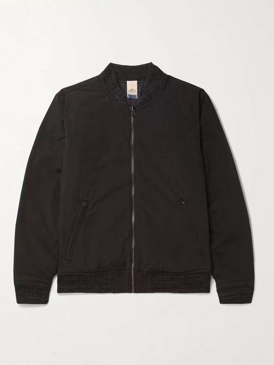 Faherty Reversible Twill and Quilted Cotton-Blend Bomber Jacket