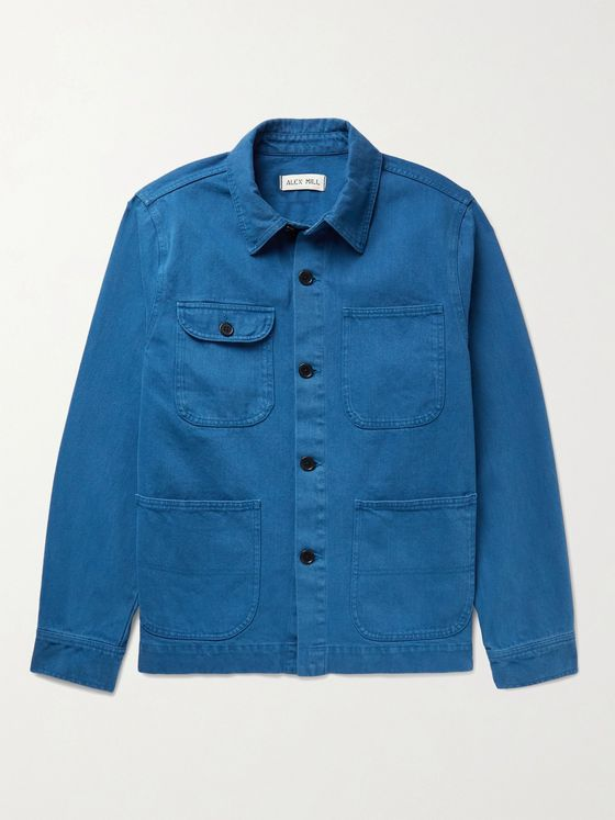 ALEX MILL Garment-Dyed Cotton-Twill Chore Jacket