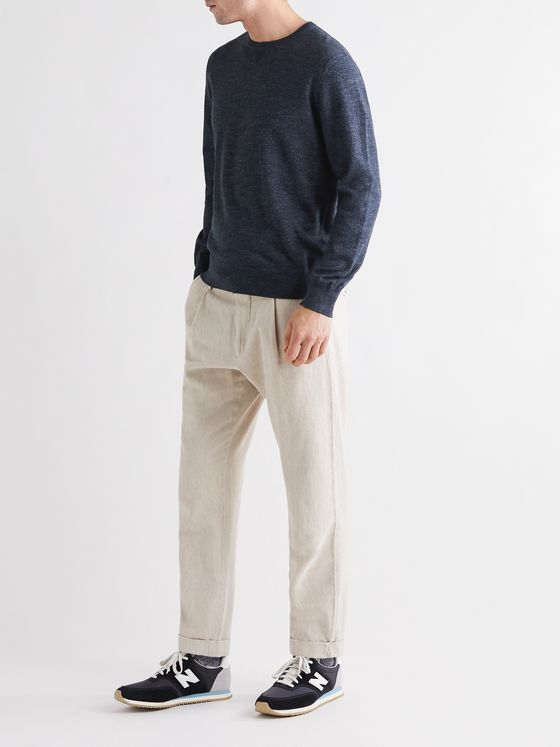 Faherty Sconset Donegal Cotton and Cashmere-Blend Sweatshirt