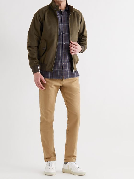 BARACUTA G9 Slim-Fit Virgin Wool and Cashmere-Blend Harrington Jacket