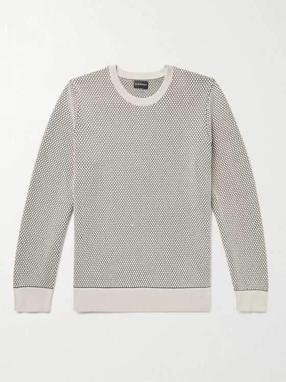 Club Monaco Honeycomb-Knit Cotton-Blend Sweater