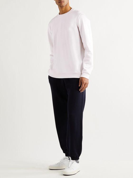 SSAM Loopback Silk and Cotton-Blend Jersey Sweatshirt