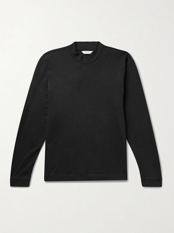 CLUB MONACO Cotton-Jersey Mock-Neck T-Shirt