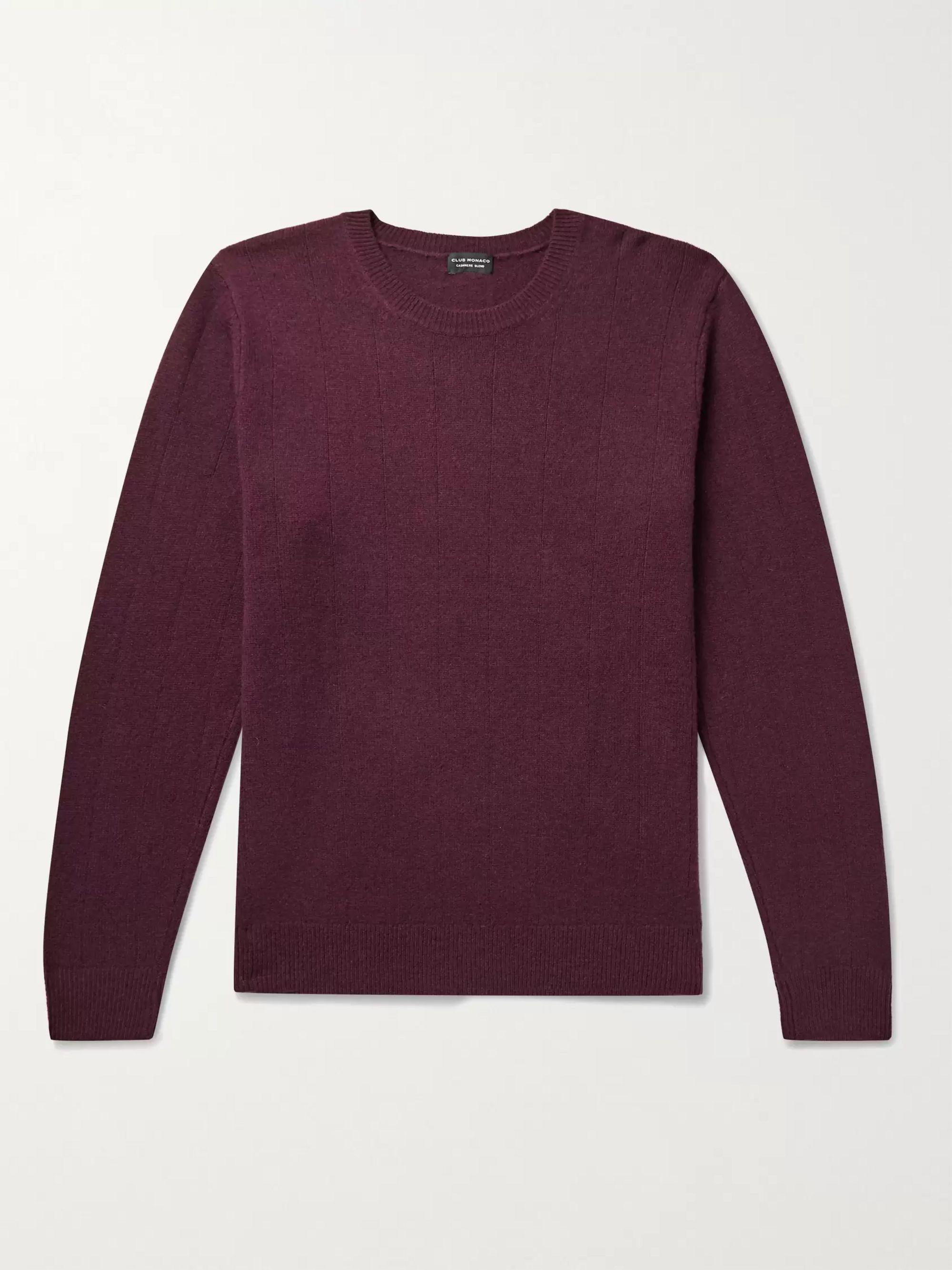 CLUB MONACO Ribbed Melange Wool and Cashmere-Blend Sweater