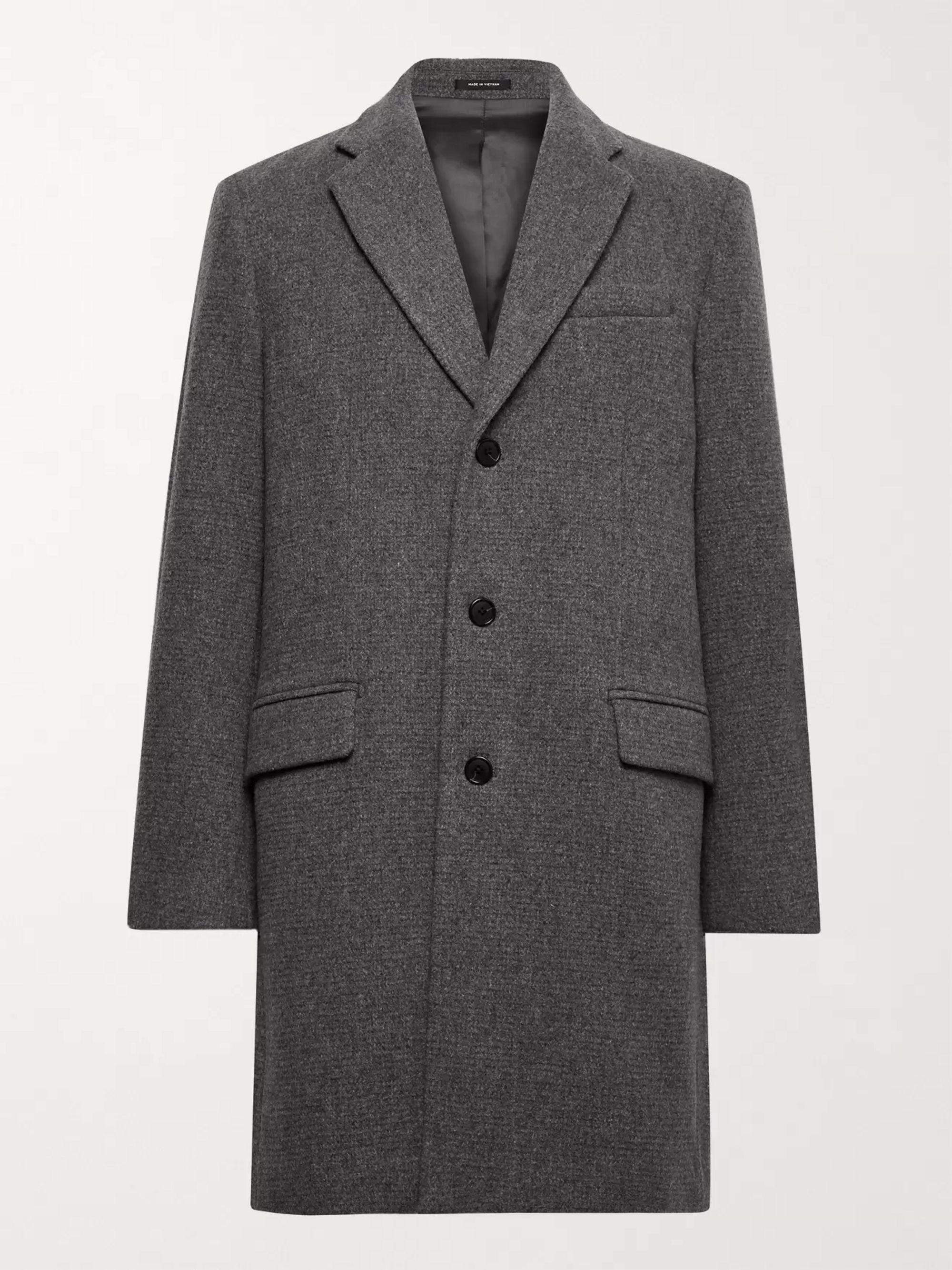 CLUB MONACO Melange Wool-Blend Coat