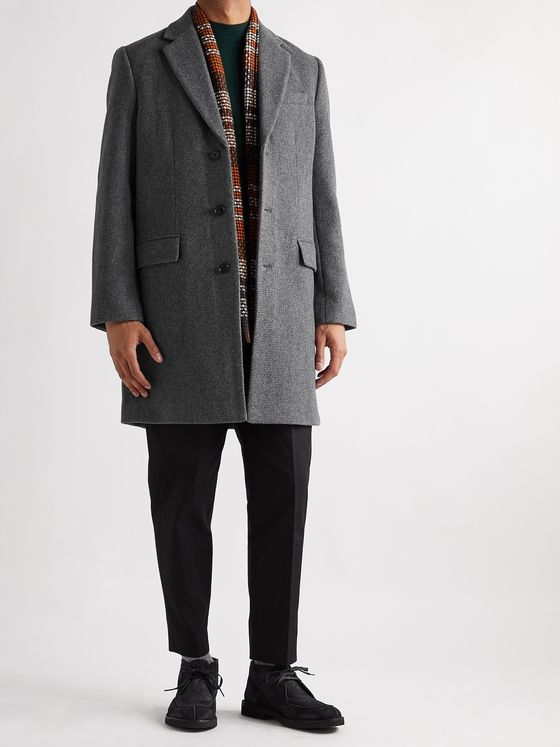 CLUB MONACO Mélange Wool-Blend Coat