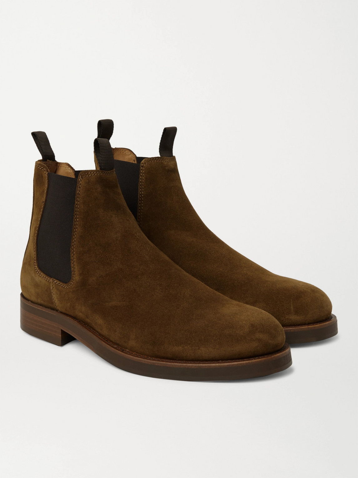 Belstaff Longton Suede Chelsea Boots In Tobacco