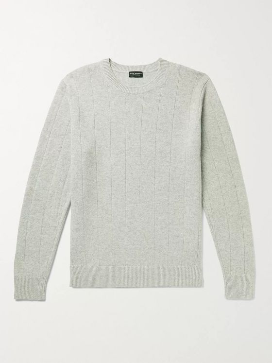 CLUB MONACO Ribbed Mélange Wool and Cashmere-Blend Sweater