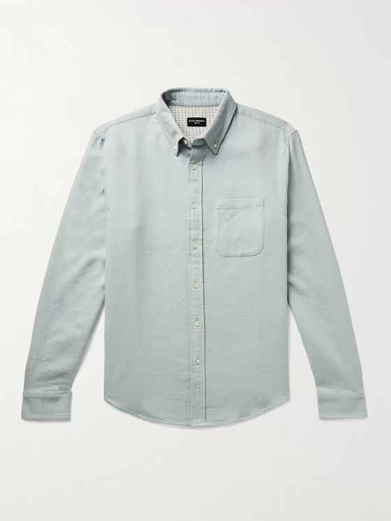 CLUB MONACO Slim-Fit Button-Down Collar Double-Faced Cotton Shirt