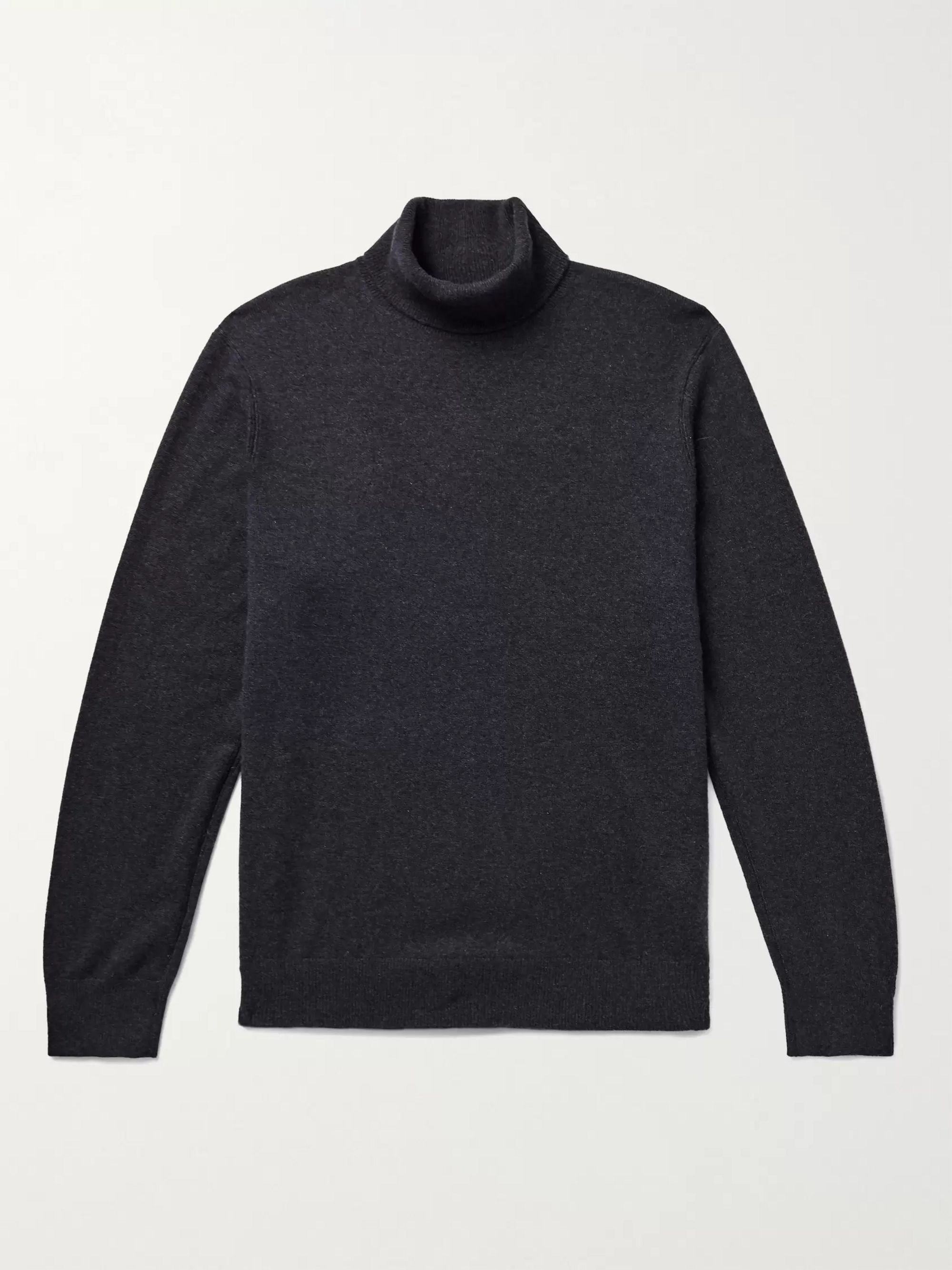 CLUB MONACO Melange Cashmere Rollneck Sweater