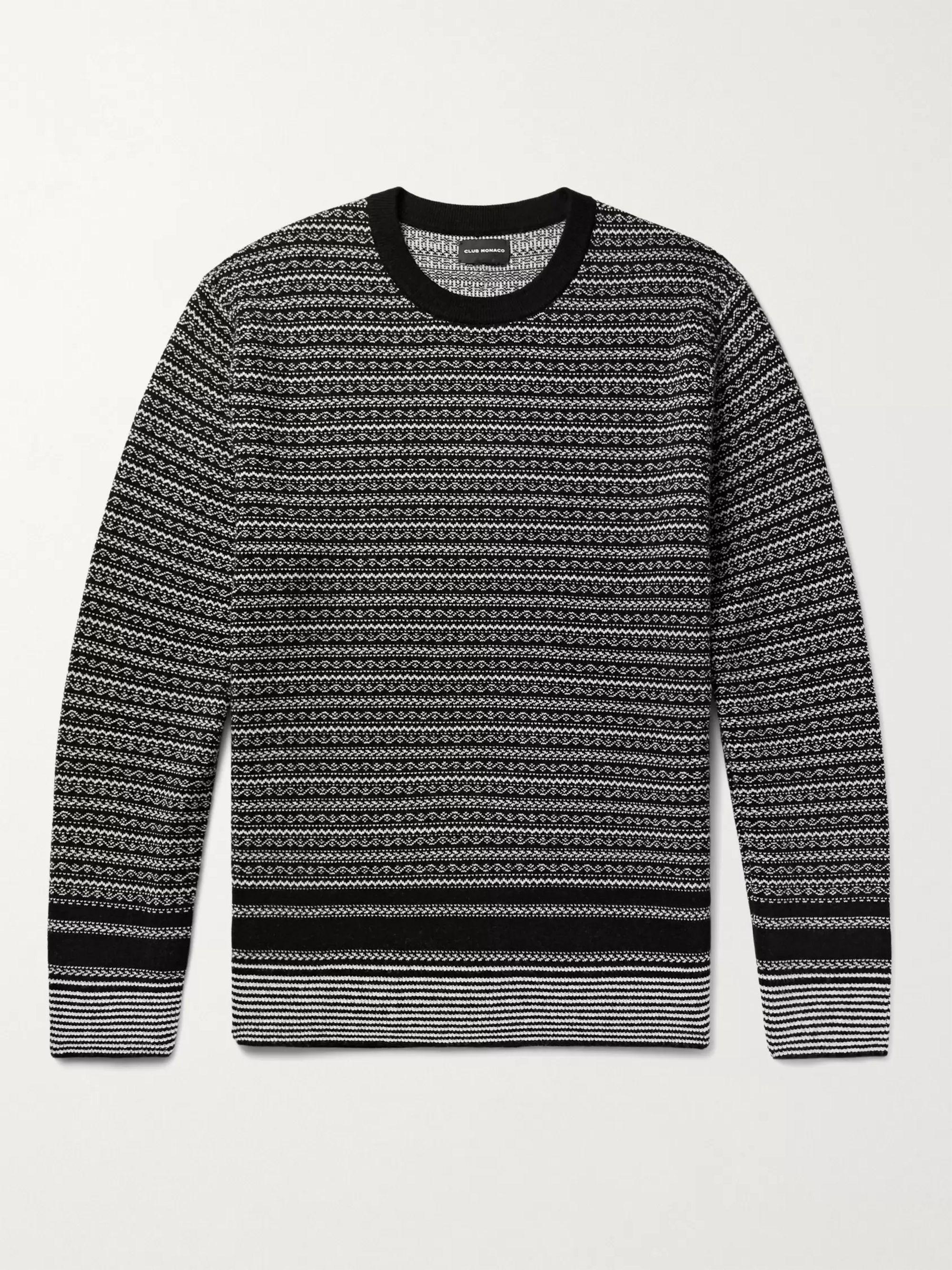 CLUB MONACO Fair Isle Jacquard-Knit Sweater