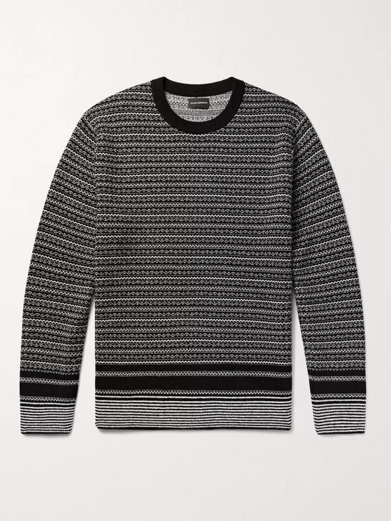 CLUB MONACO Fair Isle Jacquard-Knit Sweater