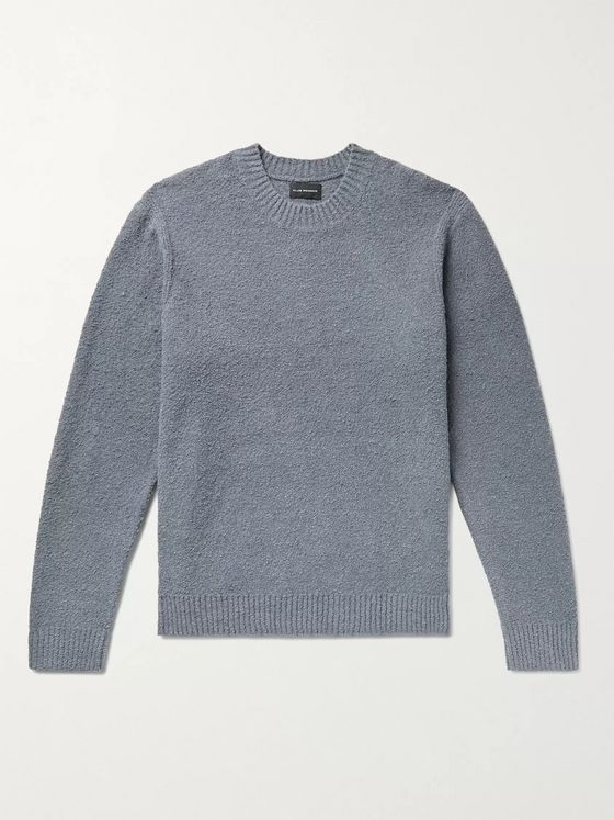 CLUB MONACO Cotton-Blend Bouclé Sweater