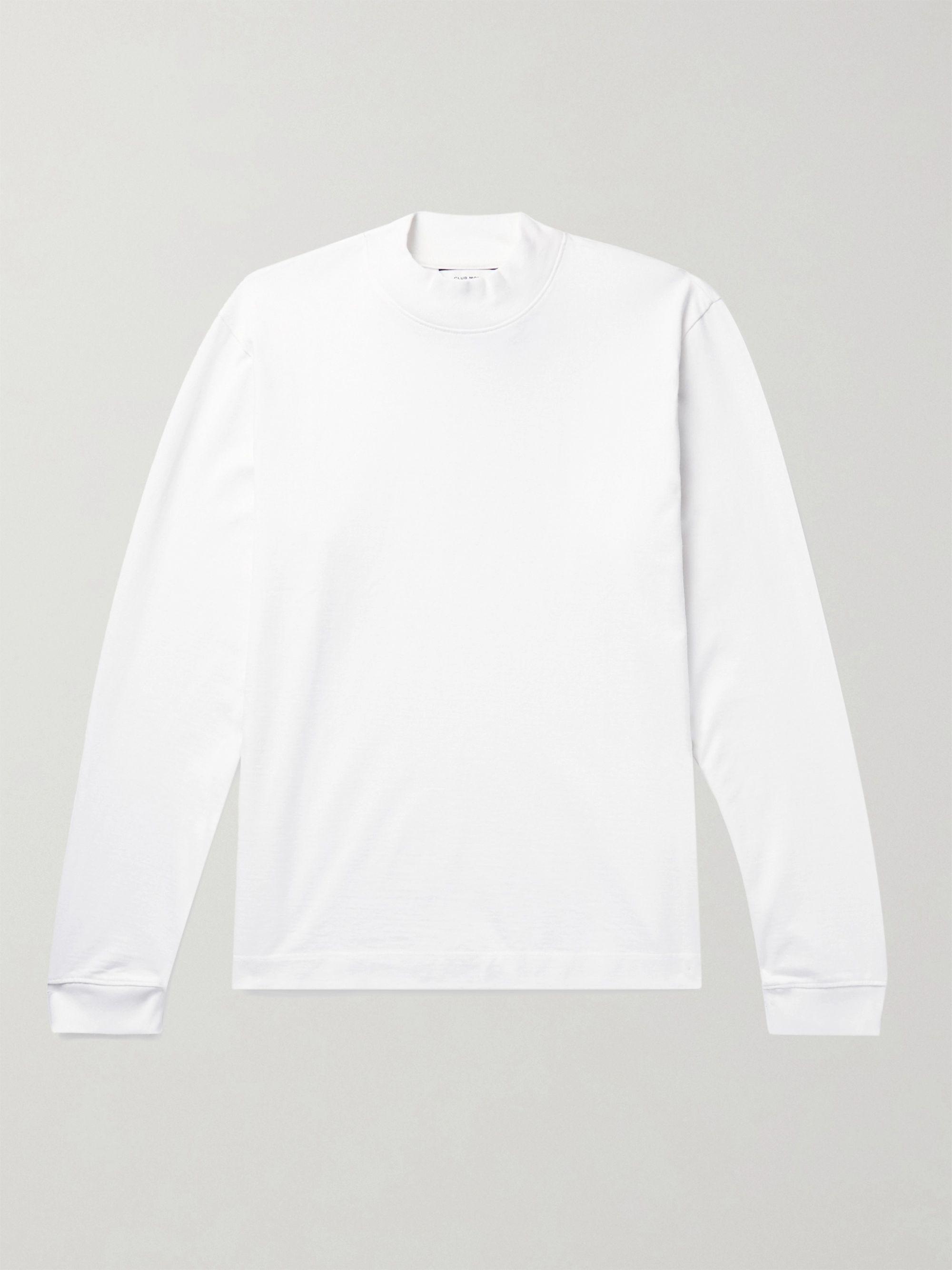 CLUB MONACO Cotton-Jersey Mock-Neck T-Shirt