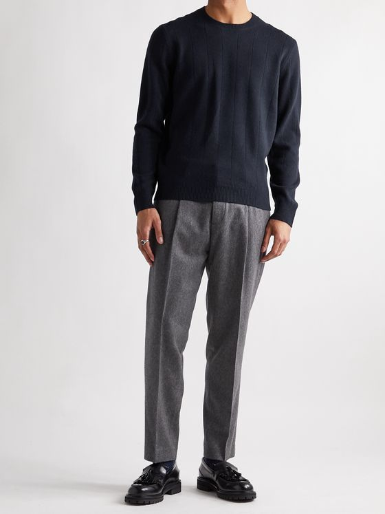 CLUB MONACO Ribbed Wool and Cashmere-Blend Sweater