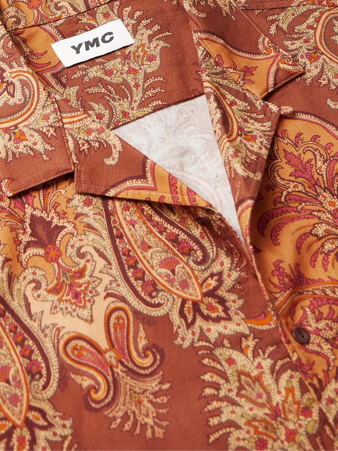 YMC YOU MUST CREATE Cottons MALICK CAMP-COLLAR POLKA-DOT COTTON-BLEND TWILL SHIRT