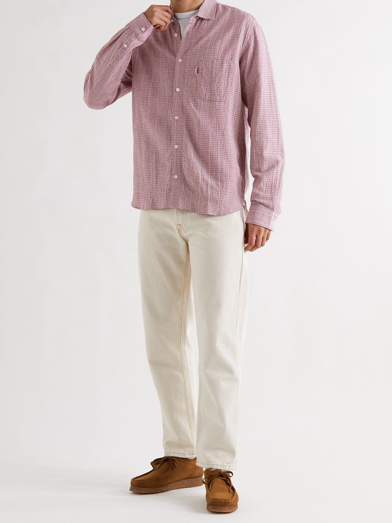 YMC Curtis Micro-Checked Woven Shirt
