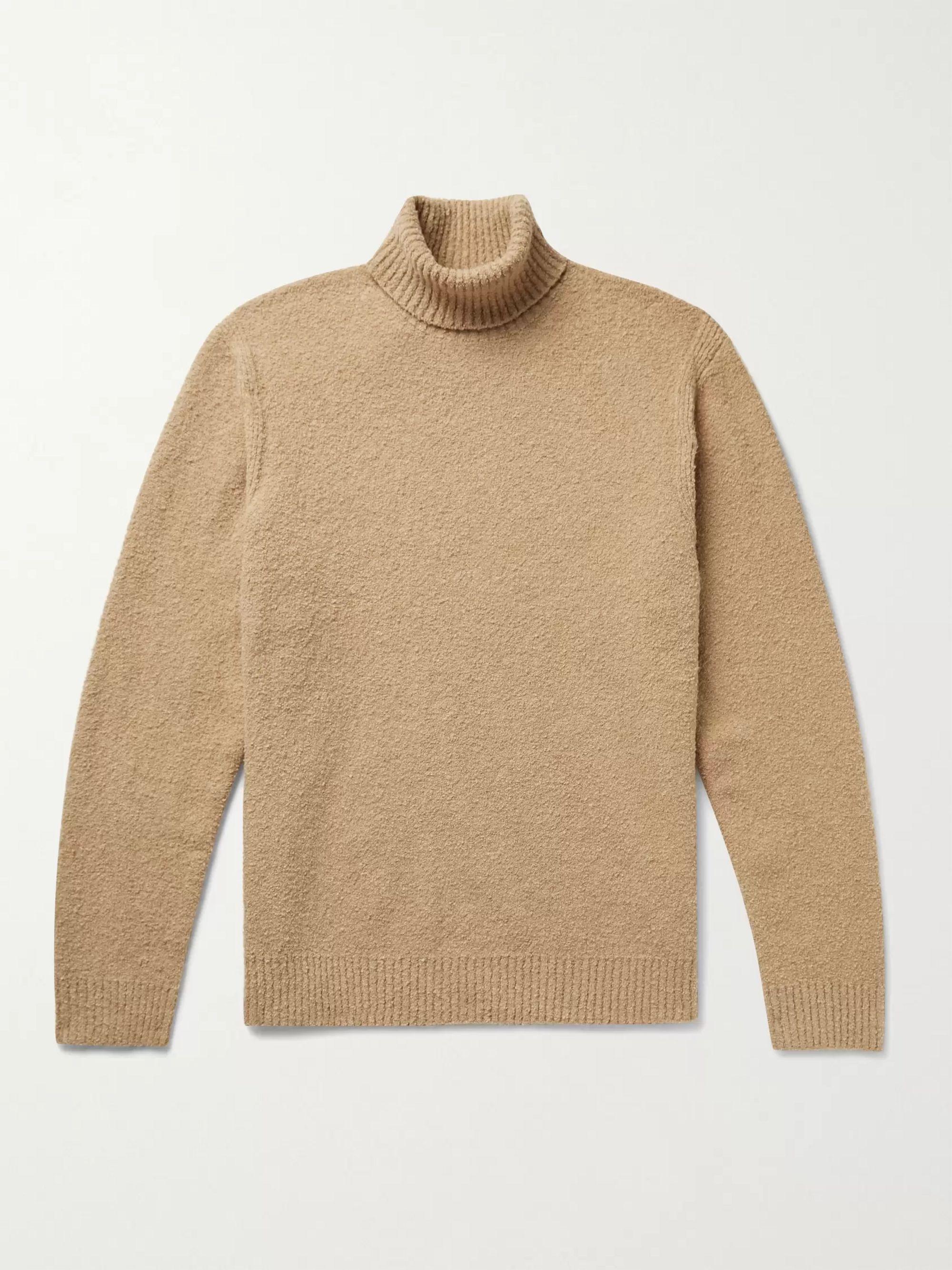 CLUB MONACO Cotton-Blend Boucle Rollneck Sweater