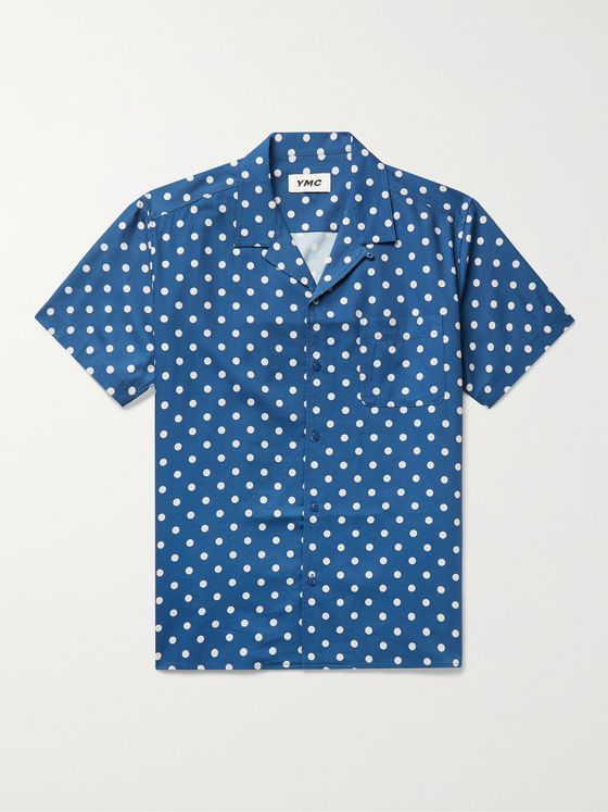 YMC Malick Camp-Collar Polka-Dot Cotton-Blend Twill Shirt