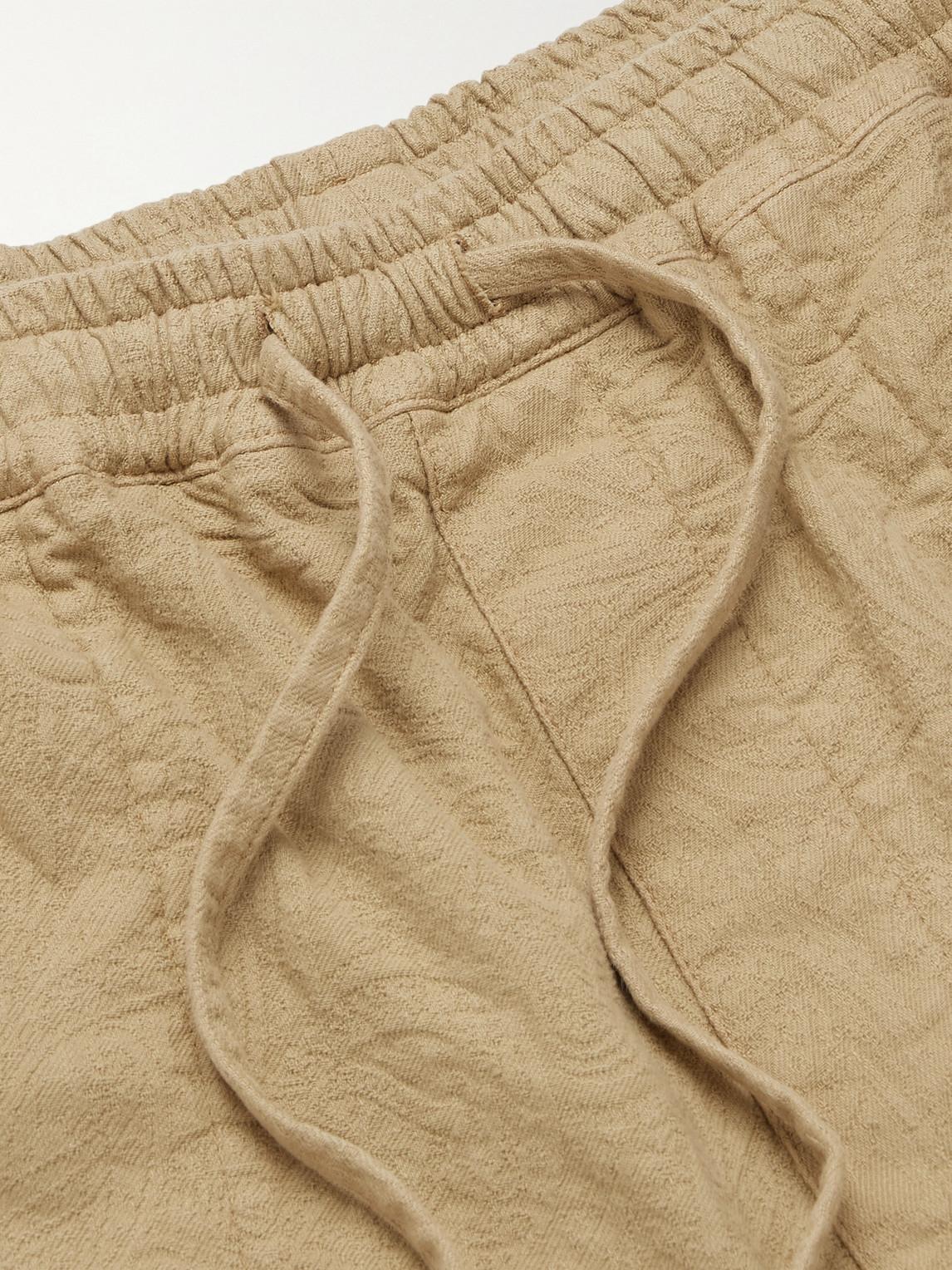 YMC YOU MUST CREATE Cottons Z GARMENT-DYED STRETCH-COTTON JACQUARD DRAWSTRING SHORTS