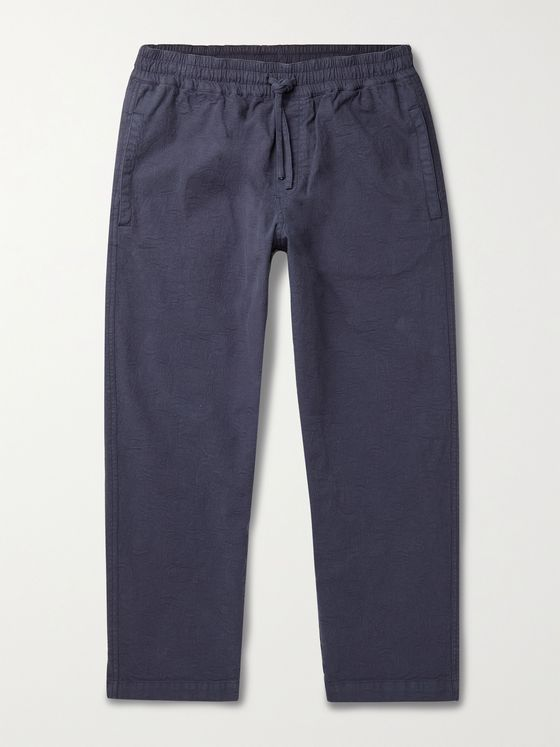 YMC Alva Tapered Stretch-Cotton Jacquard Drawstring Trousers