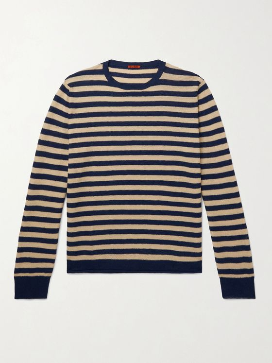 BARENA Striped Linen and Cotton-Blend Sweater