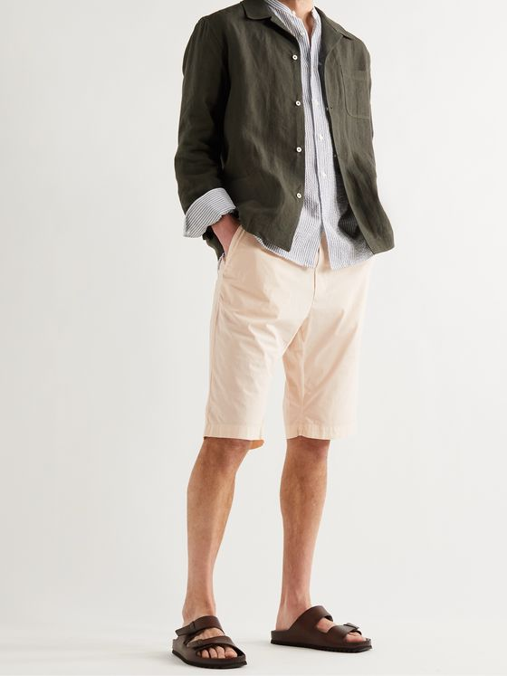 BARENA Agro Cotton-Blend Bermuda Shorts