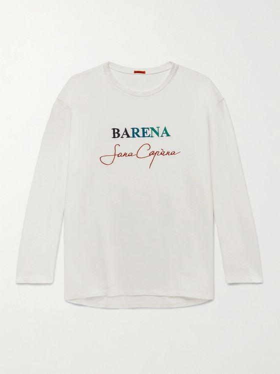 BARENA Logo-Embroidered Cotton-Jersey T-Shirt