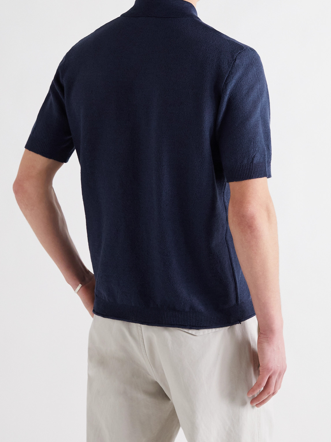 BARENA VENEZIA Shirts MARCO LINEN POLO SHIRT