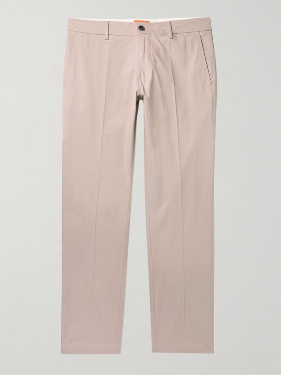 BARENA Slim-Fit Stretch-Cotton Twill Chinos