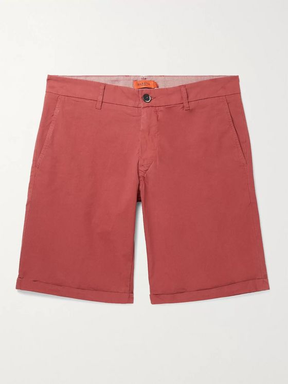 BARENA Stretch-Cotton Chino Shorts