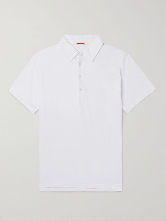 BARENA Slim-Fit Cotton-Jersey Polo Shirt