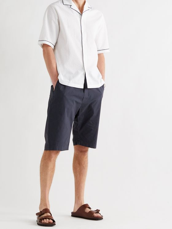 BARENA Agro Linen and Cotton-Blend Bermuda Shorts
