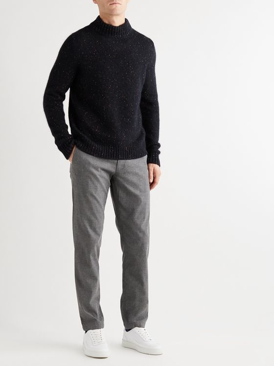 INCOTEX Donegal Knitted Mock-Neck Sweater