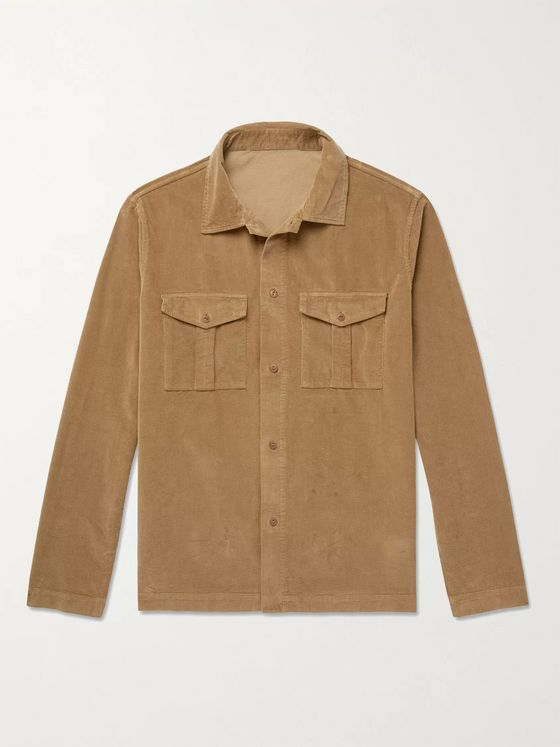 Incotex Cotton-Blend Corduroy Overshirt