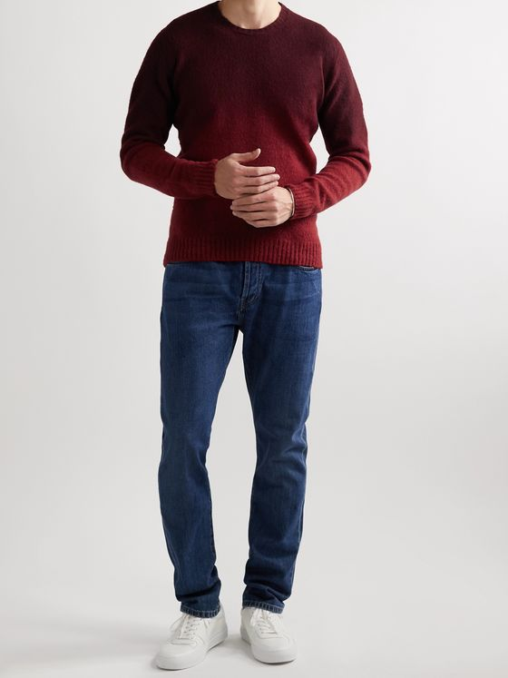 INCOTEX Slim-Fit Dégradé Brushed Virgin Wool Sweater