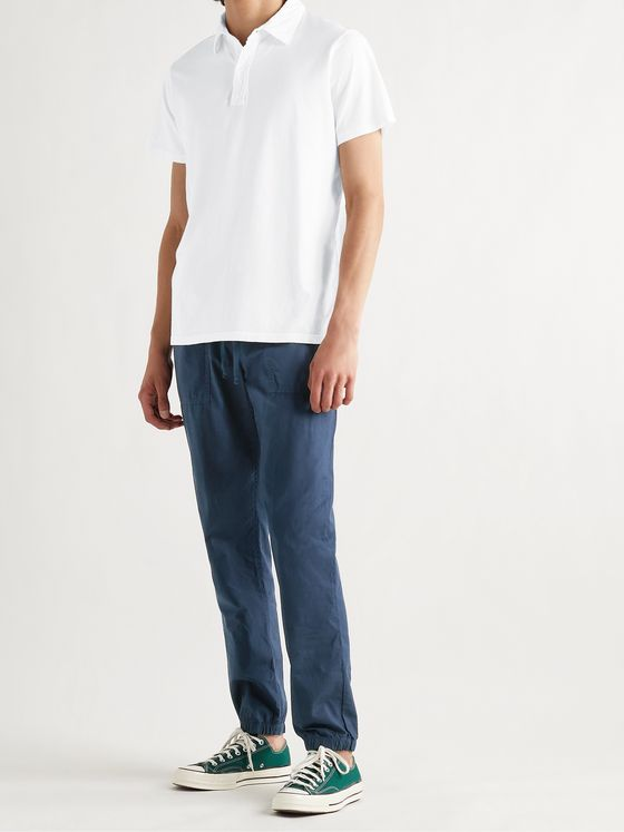 SAVE KHAKI UNITED Easy Utility Slim-Fit Tapered Cotton-Poplin Drawstring Trousers