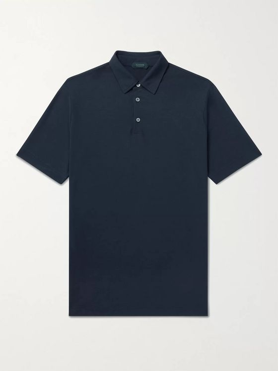 INCOTEX Slim-Fit Ice Cotton-Jersey Polo Shirt