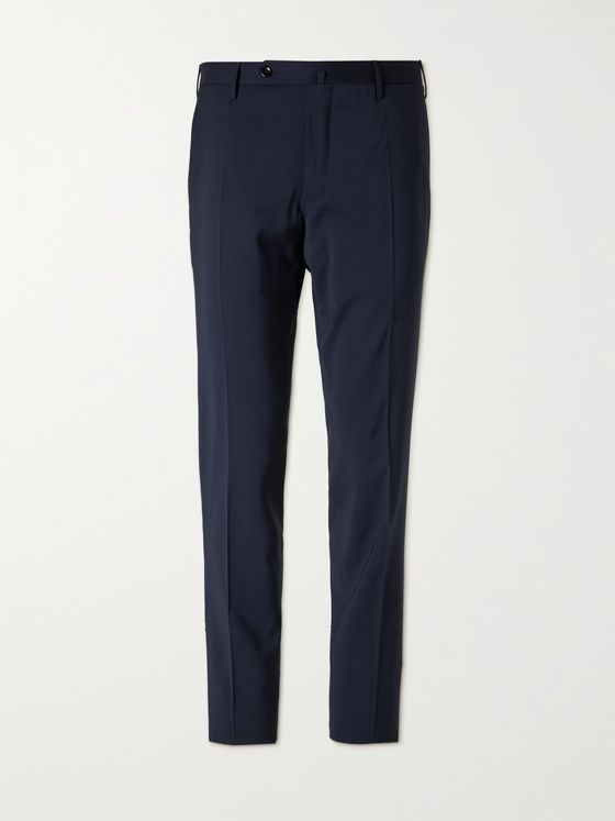 INCOTEX Slim-Fit Wool Trousers