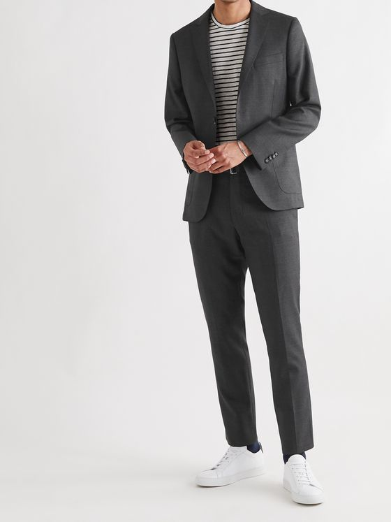OFFICINE GÉNÉRALE Paul Belted Virgin Wool Suit Trousers