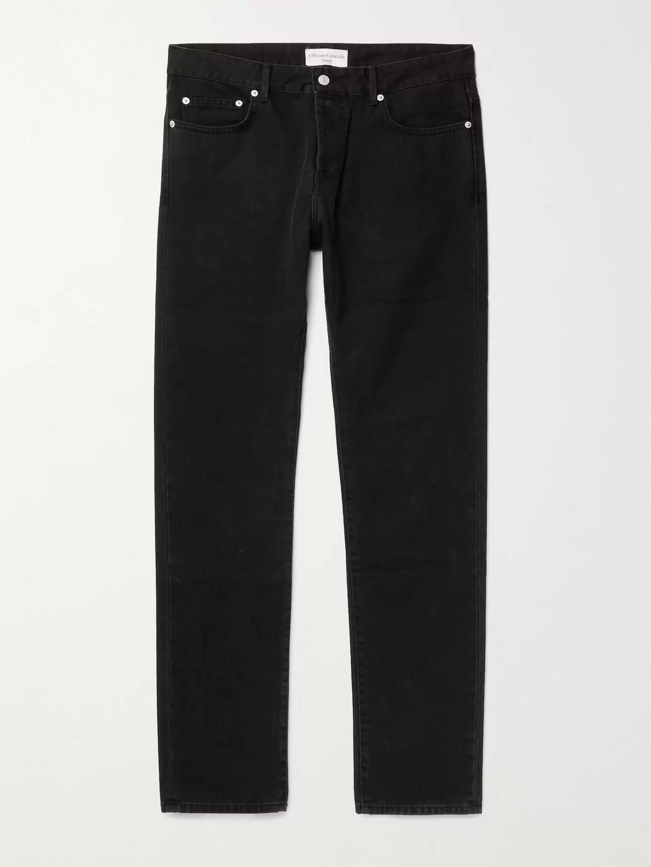 Officine Generale Kurt Slim-fit Denim Jeans In Black