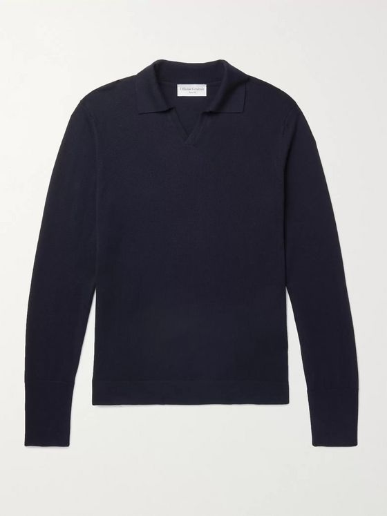 OFFICINE GÉNÉRALE Simone Merino Wool Polo Shirt