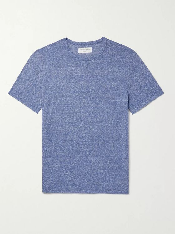 OFFICINE GÉNÉRALE Slub Cotton and Silk-Blend Jersey T-Shirt