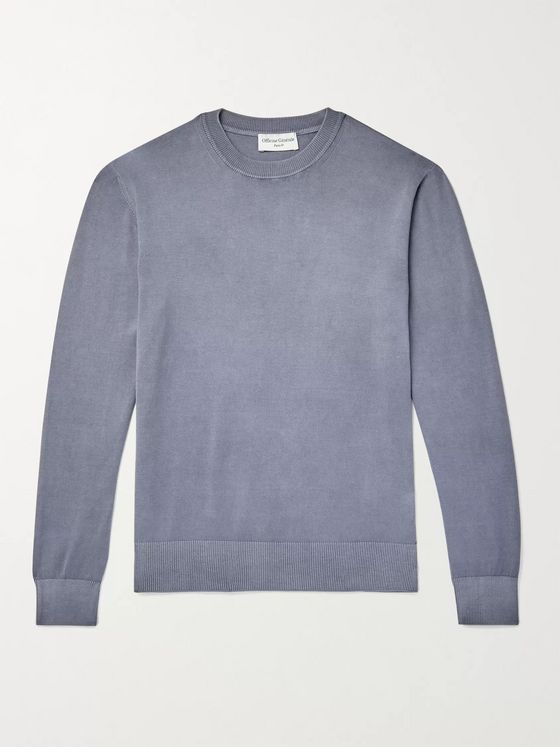 OFFICINE GÉNÉRALE Neils Garment-Dyed Loopback Cotton-Jersey Sweatshirt