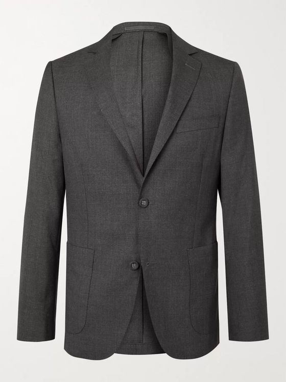 OFFICINE GÉNÉRALE Unstructured Virgin Wool Suit Jacket