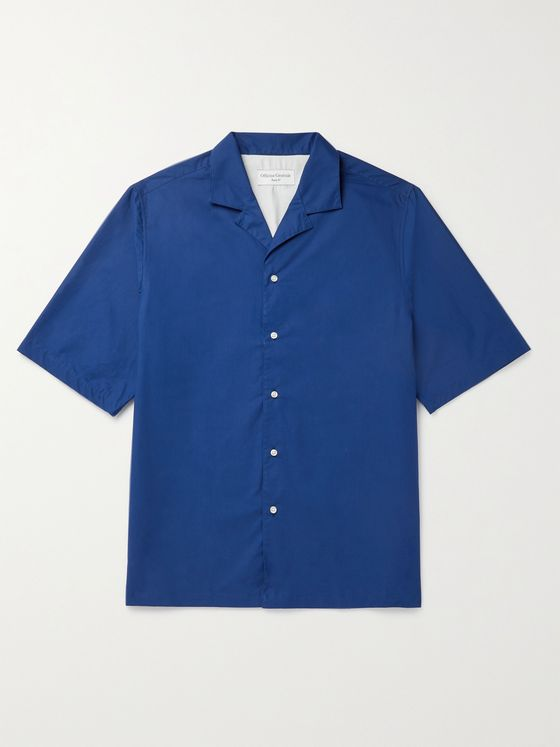 OFFICINE GÉNÉRALE Eren Camp-Collar Organic Cotton-Poplin Shirt