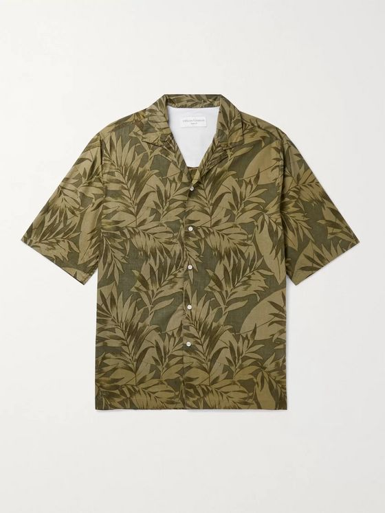 OFFICINE GÉNÉRALE Eren Camp-Collar Printed Cotton-Voile Shirt
