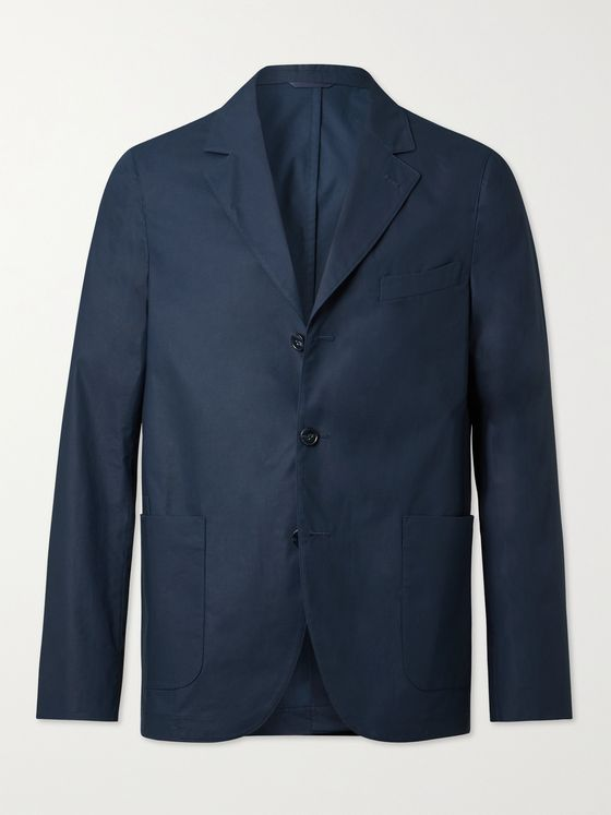 OFFICINE GÉNÉRALE Armie Unstructured Organic Cotton Suit Jacket